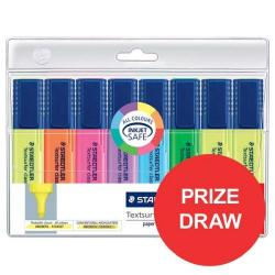 Cheap Stationery Supply of Staedtler Textsurfer Classic 364 (2.5 - 4.7mm) Highlighter Pens (Assorted Colours) 1 x Pack of 6 with 2 FREE (Assorted Colours) Highlighter (Competition Offer) January - December 2017 364AWP8-12345XX Office Statationery