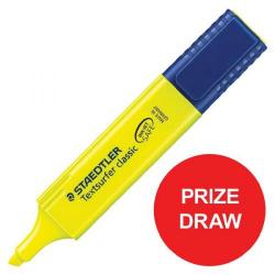 Cheap Stationery Supply of Staedtler Textsurfer Classic 364 (2.5 - 4.7mm) Highlighter Pens (Yellow) 1 x Pack of 10 (Competition Offer) January - December 2017 3641-12345XX Office Statationery