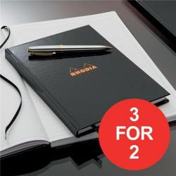 Cheap Stationery Supply of Rhodia (A4) Business Book Casebound Hard Back (Black) Pack of 3 (3 For 2) January - March 2017 119230C-XX4 Office Statationery