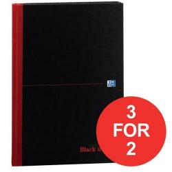 Cheap Stationery Supply of Black n Red (A4) 90g/m2 192 Pages Ruled Casebound Notebook (Pack of 5) - Offer 3 for 2 (Jan-Mar 2017) 100080446-XX4 Office Statationery