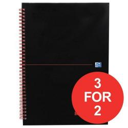 Cheap Stationery Supply of Black n Red (A4) 90g/m2 140 Pages Ruled Wirebound Notebook (Pack of 5) - Offer 3 for 2 (Jan-Mar 2017) 100103711-XX4 Office Statationery