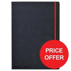 Cheap Stationery Supply of Black n Red (A4) 90g/m2 144 Pages Ruled and Numbered Journal Casebound Notebook - Price - Offer (Apr-Jun 2017) 400038675-XX729 Office Statationery