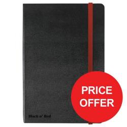 Cheap Stationery Supply of Black n Red (A6) Hardback Casebound Business Journal 90g/m2 144 Pages Ruled and Numbered (Black) Price - Offer (Apr-Jun 2017) 400033672-XX729 Office Statationery