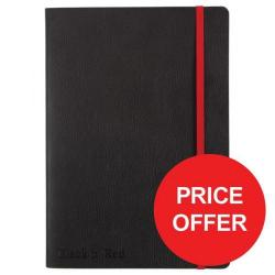 Cheap Stationery Supply of Black n Red (A5) 90g/m2 144 Numbered Pages Soft Cover Casebound Business Journal Notebook (Black) Price - Offer (Apr-Jun 2017) 400051204-XX729 Office Statationery