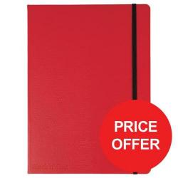 Cheap Stationery Supply of Black n Red (B5) 90g/m2 144 Numbered Pages Soft Cover Casebound Journal Notebook (Red) Price - Offer (Apr-Jun 2017) 400051200-XX729 Office Statationery