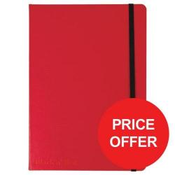 Cheap Stationery Supply of Black n Red (A5) 90g/m2 144 Numbered Pages Soft Cover Casebound Journal Notebook (Red) Price - Offer (Apr-Jun 2017) 400051201-XX729 Office Statationery