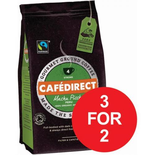 Cafe Direct (227g) Machu Picchu Roast and Ground Organic A07354