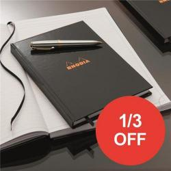 Cheap Stationery Supply of Rhodia (A5) Business Book Casebound Hard Back Ruled (Black) Pack of 3 - OFFER 1/3 OFF (Apr-Sep 2017) 119231C-XX810 Office Statationery