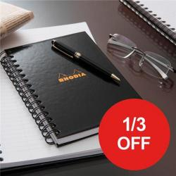 Cheap Stationery Supply of Rhodia (A4) Business Book Wirebound Hard Back Ruled Margin (Black) Pack of 3 - OFFER 1/3 OFF (Apr-Sep 2017) 119232C-XX810 Office Statationery
