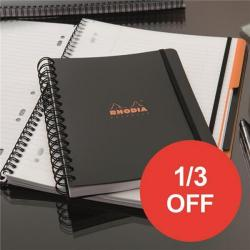 Cheap Stationery Supply of Rhodia (A4+) Business Book Wirebound Polypropylene Cover (Black) Pack of 3 - OFFER 1/3 OFF (Apr-Sep 2017) 119236C-XX810 Office Statationery