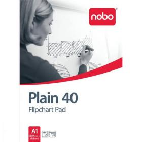 Nobo Flipchart Pad Perforated 40 Sheets 60gsm A1 Plain Ref 34631165 Pack of 5