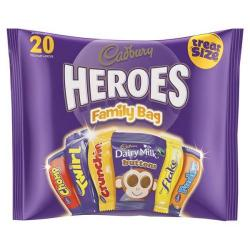 Cheap Stationery Supply of Cadbury Heroes (278g) Treat Sized Assorted Chocolates in a Family Bag (1 Pack of 20 Chocolates) *2017 Mailer* A03807 - XXX Office Statationery