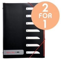 Cheap Stationery Supply of Black n Red by Elba 7 Part Polypropylene Sorter with Tabs (Single) - OFFER 2 for 1 (Jul 2017) 400051534-9876 Office Statationery