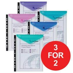 Cheap Stationery Supply of Snopake Polyfile High Capacity Portrait (A4) Ring Binder Wallet 100 Sheet Capacity (Electra Assorted Colours) 15695 (Pack of 5 Wallets) 3 For 2 Jul-Sep 2017 15695-9876 Office Statationery
