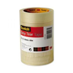 Cheap Stationery Supply of 3M Scotch Easy Tear (25mm x 66m) Adhesive Tape (Clear) Pack of 6 Rolls - OFFER 3 for 2 (Oct-Dec 2017) ET2566T6-Q4 Promo Office Statationery