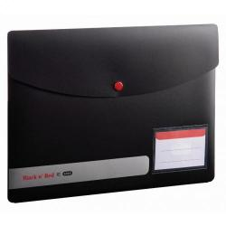 Cheap Stationery Supply of Black n Red by Elba Stud Wallet PP A4 400051532 2 For 1 Jan-Dec 2019 Office Statationery