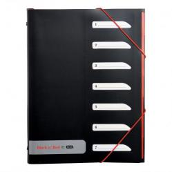 Cheap Stationery Supply of Black n Red by Elba 7 Part Sorter with Tabs PP Elastic Straps A4 400051534 2 For 1 Jan-Dec 2019 Office Statationery