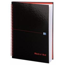 Cheap Stationery Supply of Black n Red A4 Glossy Hardback Wirebound Notebook 90g/m2 140 Pages Ruled Pack of 5 - OFFER 2 for 1 Jul-Sep 2018 100103711_XX990 Office Statationery