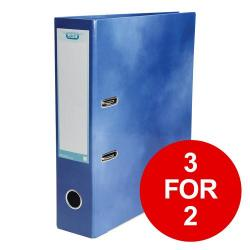 Cheap Stationery Supply of Elba Classy Lever Arch File A4 70mm Blue 400021003 3 for 2 Jan-Dec 2019 Office Statationery