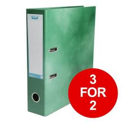 Cheap Stationery Supply of Elba Classy Lever Arch File A4 70mm Green 400021005 3 for 2 Jan-Dec 2019 Office Statationery
