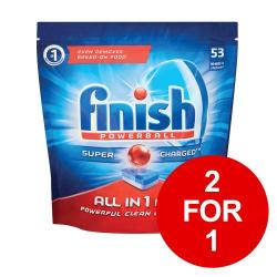 Cheap Stationery Supply of Finish Dishwasher Powerball Tablets All-in-1 3041411 Pack of 53 2 for 1 Jan-Mar 2019 Office Statationery