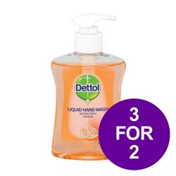 Cheap Stationery Supply of Dettol Handsoap Antibacterial Moistening Grapefruit 250ml 8071864 3 For 2 May 2019 Office Statationery