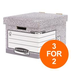 Cheap Stationery Supply of Bankers Box by Fellowes Heavy Duty Standard Storage Box FSC 0081801 Pack of 10 3 For 2 Jul-Sept 2019 Office Statationery