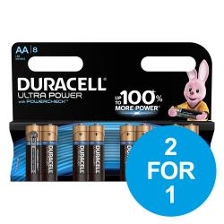 Cheap Stationery Supply of Duracell Ultra Power MX1500 Battery Alkaline 1.5V AA 81235497 Pack of 8 2 for 1 Dec 2019 Office Statationery
