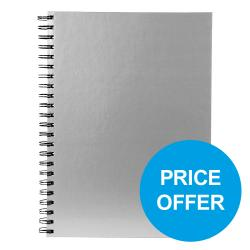 Cheap Stationery Supply of Pukka Wbnd Manuscript Bk A4 90gsm Ruled Margin Perfd Silver WRULA4 Pack of 5Price Offer Oct-Dec 19 Office Statationery