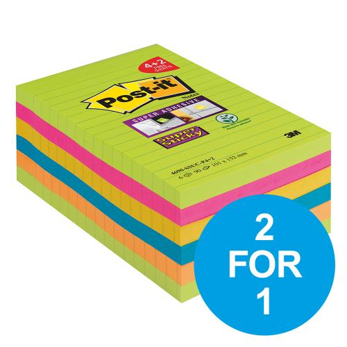 2 FOR 1 ON POST-IT XXL RAINBOW NOTES