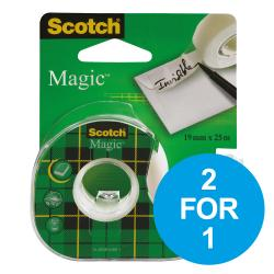 Cheap Stationery Supply of Scotch Magic Tape Crd Disp 19mmx25m 8-1925D 2 for 1 Oct-Dec 19  Office Statationery