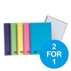 Cheap Stationery Supply of Europa Sidebound Notebook PEFC A4 Ast C 3154Z Pack of 10 2 for 1 Oct-Dec 19 Office Statationery