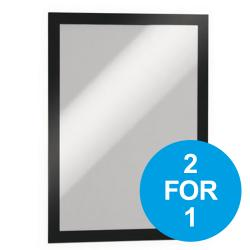 Cheap Stationery Supply of Durable Duraframe A4 Self Adhesive with Magnetic Frame Black 487201 Pack of 2 2 for 1 Oct-Dec 2019 Office Statationery