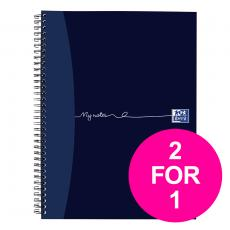 OxfordMyNotes NbkWbnd 90gsm RldMgn Perfd Pched 4 Holes 200pg A4  100082373 Pack of 3 2 for 1 Jan12/20
