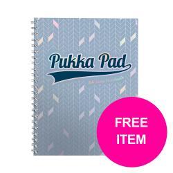 Cheap Stationery Supply of Pukka GLEE Jotta Notepad A4pls Light Blue 3009GLE Pack of 3 Free 3 Packs of Haribo StarmixJan-Mar20 Office Statationery