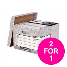 Bankers Box by Fellowes Large Storage Box Foolscap FSC  01810SP2 Pack of 10 2 for 1 Jan-Mar 20