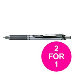 Cheap Stationery Supply of Pentel EnerGel XM Retractable Black 0.7mm BL77A Pack of 12 2 for 1 Jan-Mar 2020 Office Statationery