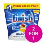 2 FOR 1 ON FINISH DISHWASHER TABLETS