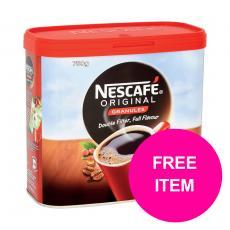 Nescafe Original Coffee Granules Tin 750g  12315566 Buy 2 Get Kit Kat Senses Chocs 200g Jan-Mar 2020