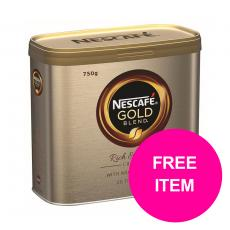 Nescafe Gold Blend Instant Coffee Tin 750g  12339209 Buy 2 Get Kit Kat Senses Chocs 200g Jan-Mar 20