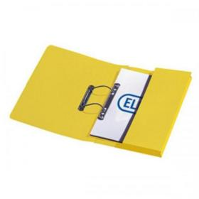 Elba StrongLine Transfer Spring File Recycled 320gsm Foolscap Yellow Ref 100090150 Pack of 25