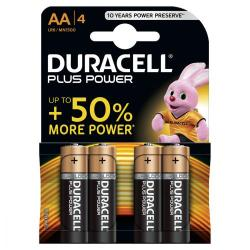 Cheap Stationery Supply of Duracell Plus Power Battery Alkaline 1.5V AA 81275182 Pack of 4 Office Statationery