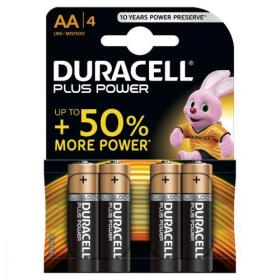 Duracell Plus Power Battery Alkaline 1.5V AA Ref 81275182 Pack of 4