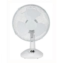 Cheap Stationery Supply of 5 Star Facilities Desk Fan 9 Inch 90deg Oscillating with Tilt & Lock 2-Speed H320mm w/Cable 1.25m White Office Statationery