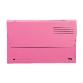 Elba Document Wallet Half Flap 285gsm Capacity 32mm Foolscap Pink Ref 100090242 Pack of 50