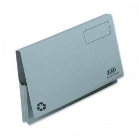 Elba Document Wallet Full Flap 285gsm Capacity 32mm Foolscap Blue Ref 100090131 Pack of 50