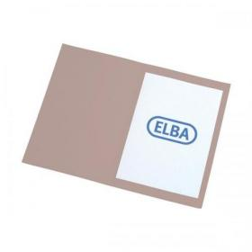Elba Foolscap Square Cut Folder Recycled Mediumweight 285gsm Manilla Buff Ref 100090216 Pack of 100