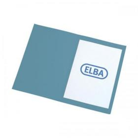 Elba Foolscap Square Cut Folder Recycled Mediumweight 285gsm Manilla Blue Ref 100090217 Pack of 100