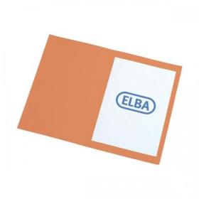 Elba Foolscap Square Cut Folder Recycled Mediumweight 285gsm Manilla Orange Ref 100090220 Pack of 100