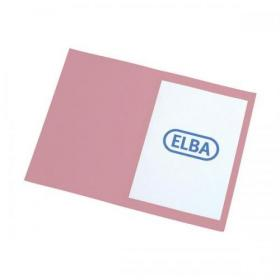 Elba Foolscap Square Cut Folder Recycled Mediumweigh 285gsm Manilla Pink Ref 100090221 Pack of 100